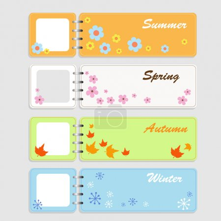 Four notebooks - Four seasons (vector)
