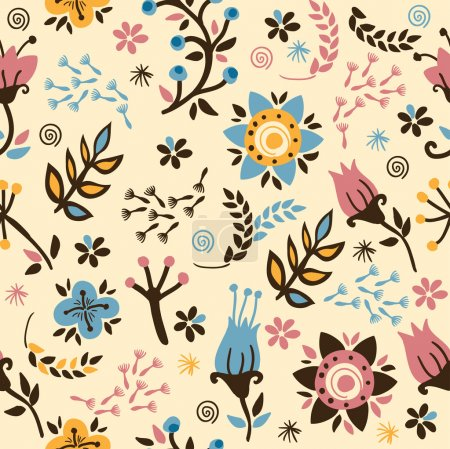 Photo for Floral seamless pattern.Gentle background. - Royalty Free Image