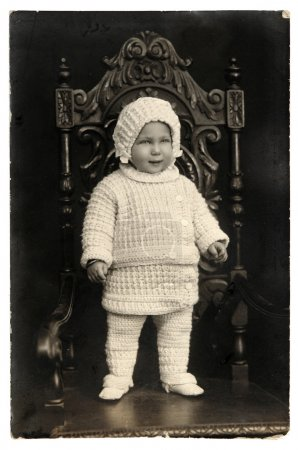 Vintage photo of kid