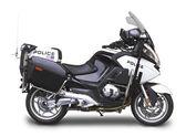 Policejní motorka - straně úhel pohledu