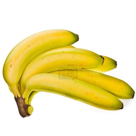 Photo pour Tas de bananes isolé sur fond de fond blanc - image libre de droit