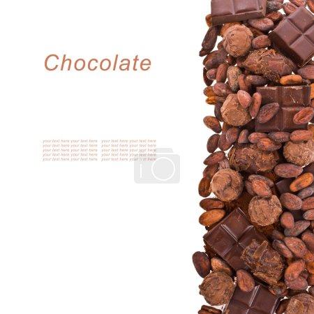 Schokoladenchips, Schokolade, Kakaobohnen, Kakaopulver