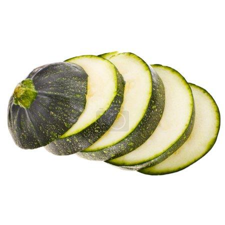 Green fresh round zucchini's