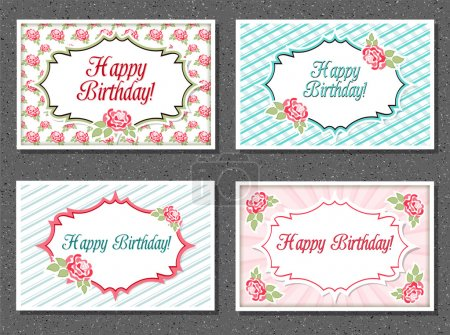 Illustration for Set of invitations card - Royalty Free Image