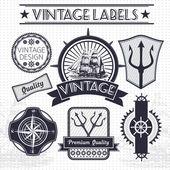 Vintage vector sail nautical travel labels