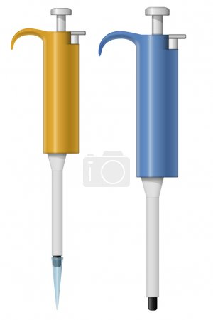 Automatic pipette illustration