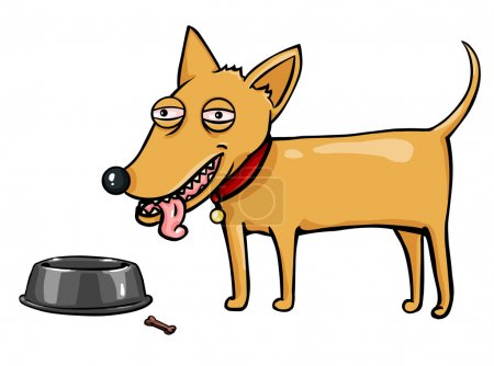 Vector character: red dog