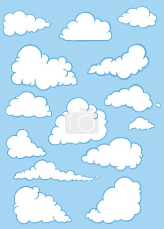 Illustration for Vector set of clouds - Royalty Free Image