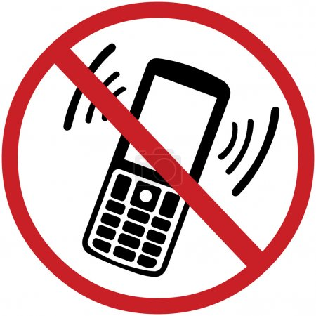 Illustration for Vector sign: turn off your mobile phone - Royalty Free Image