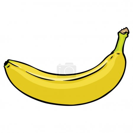 Illustration for Vector cartoon banana - Royalty Free Image