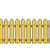 Vector seamless cartoon yellow fence