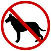 Vector sign: no dogs
