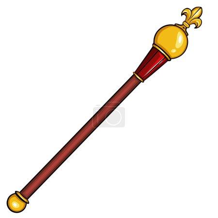 Vector cartoon royal scepter