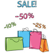 Vector Shopping Bags for sale 50 25 10 percent discount