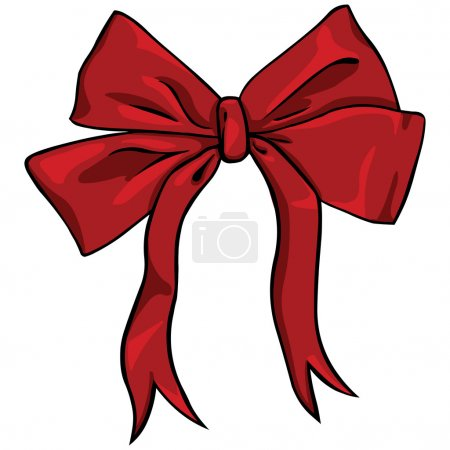 Illustration for Vector cartoon red bow - Royalty Free Image