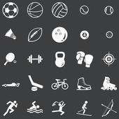 Vector set of 25 white sport icons