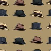 Bezešvé pattern klobouků