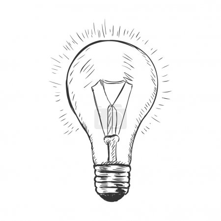 Vector sketch illustration - lightbulb