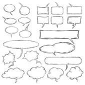 Vector talk and think vector sketch bubbles