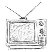 Vector Sketch Illustration - Retro TV
