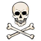 Vector Cartoon Pirate Skull with Crossbones