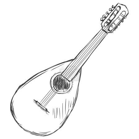 Vector Sketch Mandolin