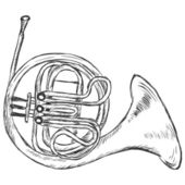 Vector Sketch French Horn