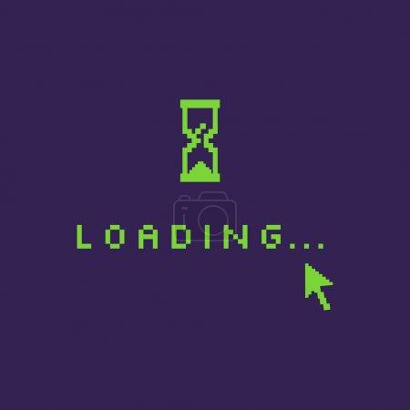 Vector Pixel Illustration: Loading