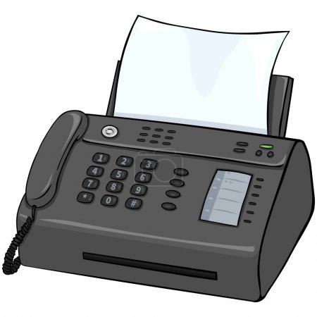 Vector Cartoon Telefax