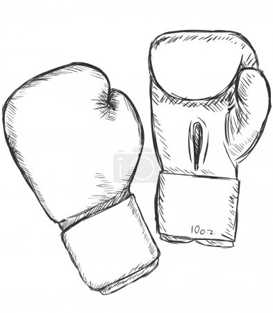 Vector Sketch Boxing Gloves