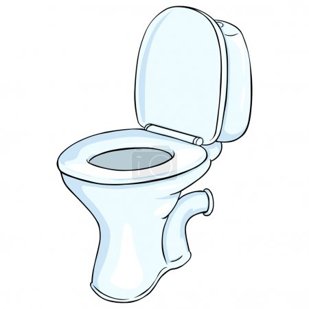 Vector Cartoon Toilet Pan