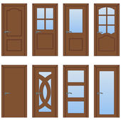 Vector Set of Cartoon Doors
