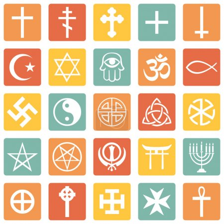 Photo for Vector Set of Religious Symbols - Royalty Free Image