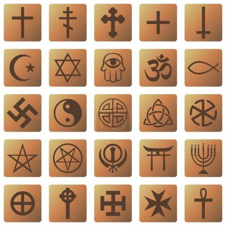 Set of Religious Symbols