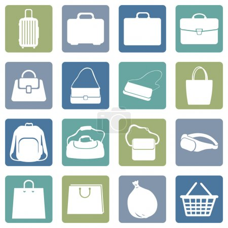 Illustration for Vector Set of Bags Icons - Royalty Free Image