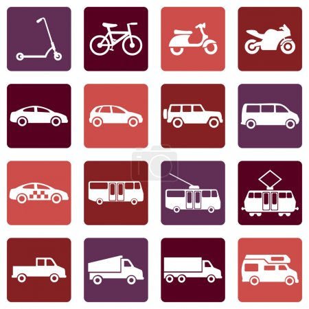 Vector Set of  Ground Transportation Icons...