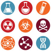 Vector Set of color Chemistry Icons