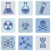 Vector Set of blue Chemistry Icons