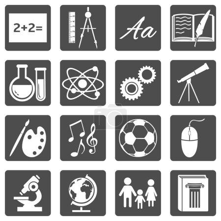 School Subjects Icons