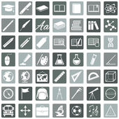 Vector Set of 49 Education Icons School and University