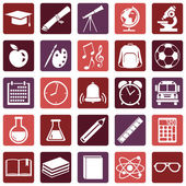 Vector Set of  School Icons