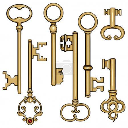 Cartoon Antique Keys.
