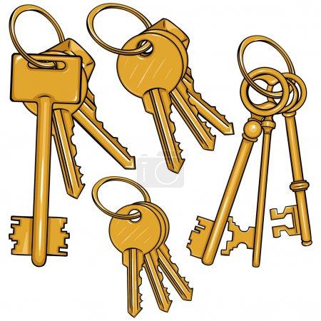 Cartoon Bunches of Keys