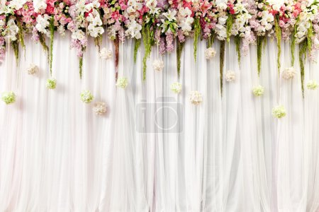 Photo for Beautiful flower wedding decoration - Royalty Free Image