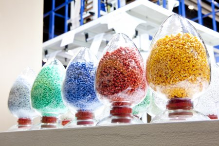 Photo for Industrial plastic granules - Royalty Free Image