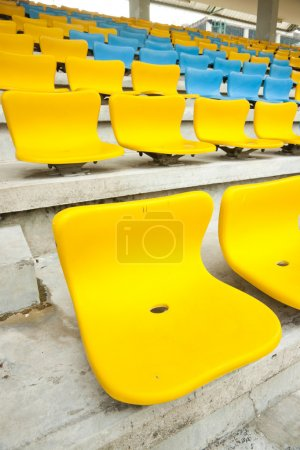 Yellow and Blue Seat on stadium