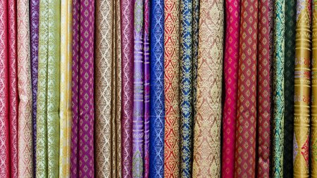 Photo for Multicolor textile background - Royalty Free Image