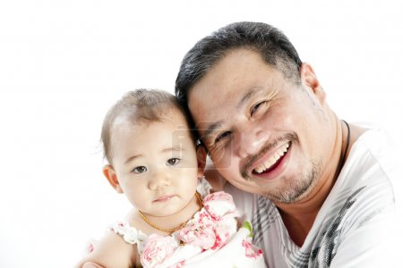 Uncle and little girl