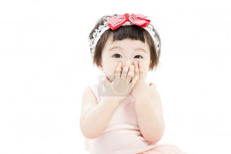 Portrait of funny little girl