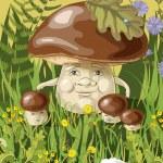Mushroom family on the grass...
